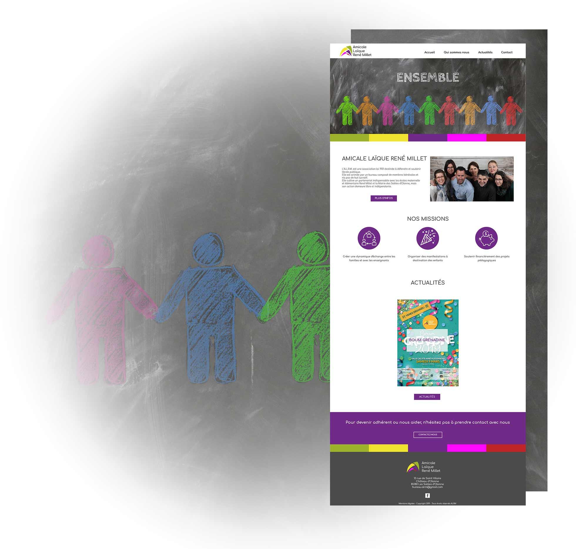 ALRM page accueil création site vitrine