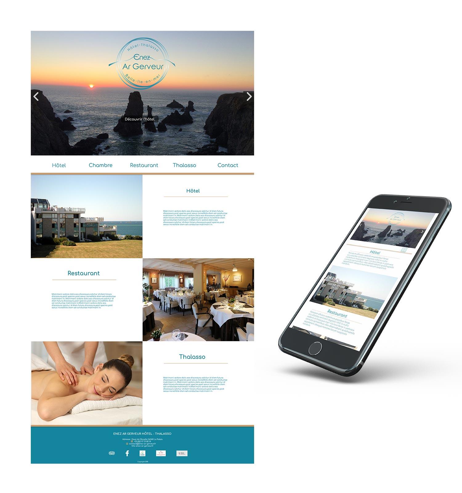 Enez Ar Gerveur page accueil webdesign