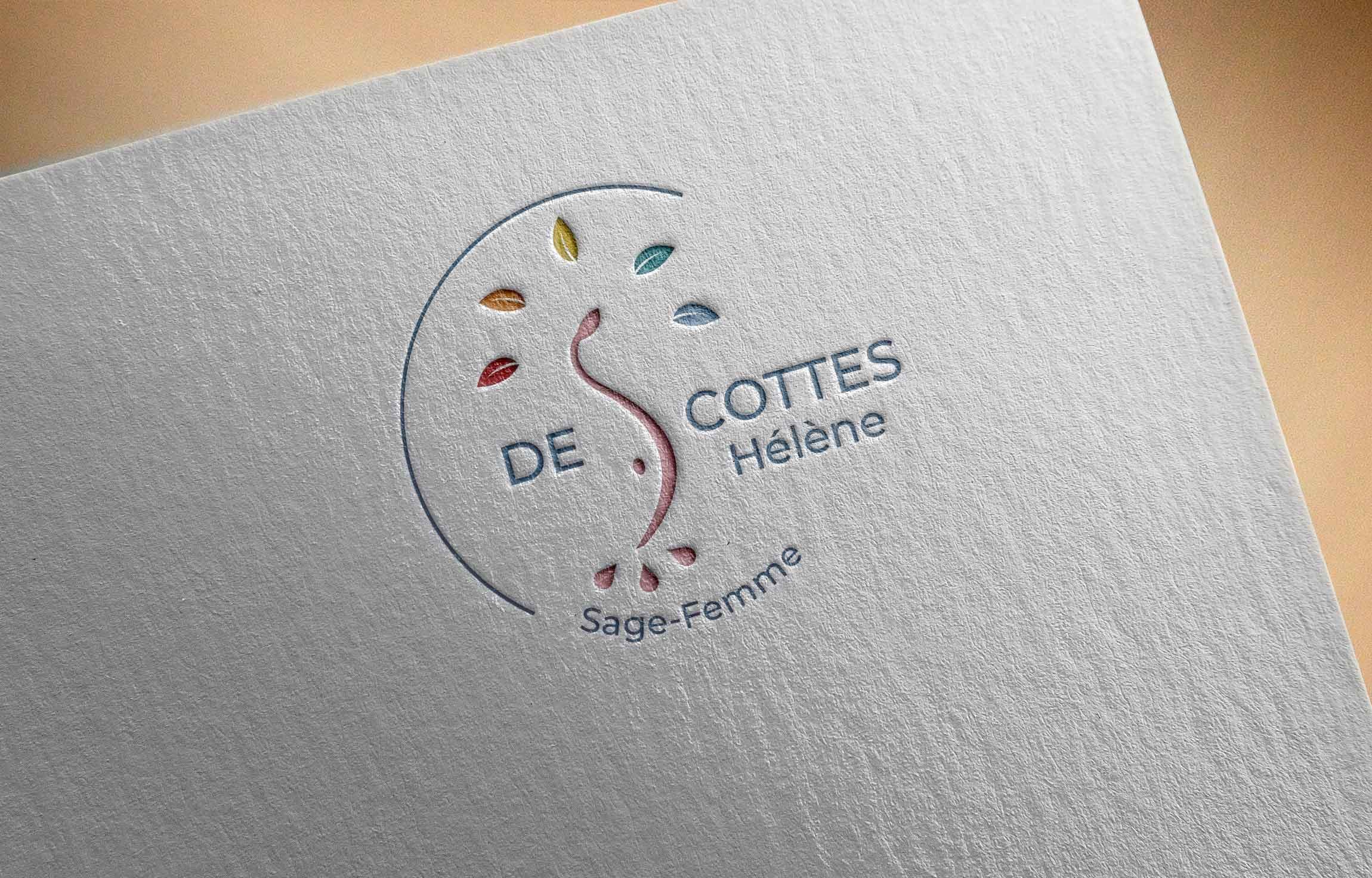 Création logo Hélène Descottes