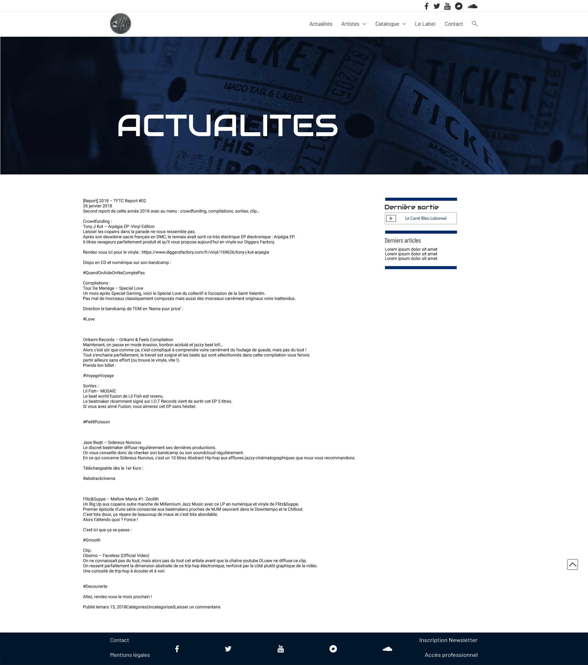 TFTC actualités webdesign création site vitrine