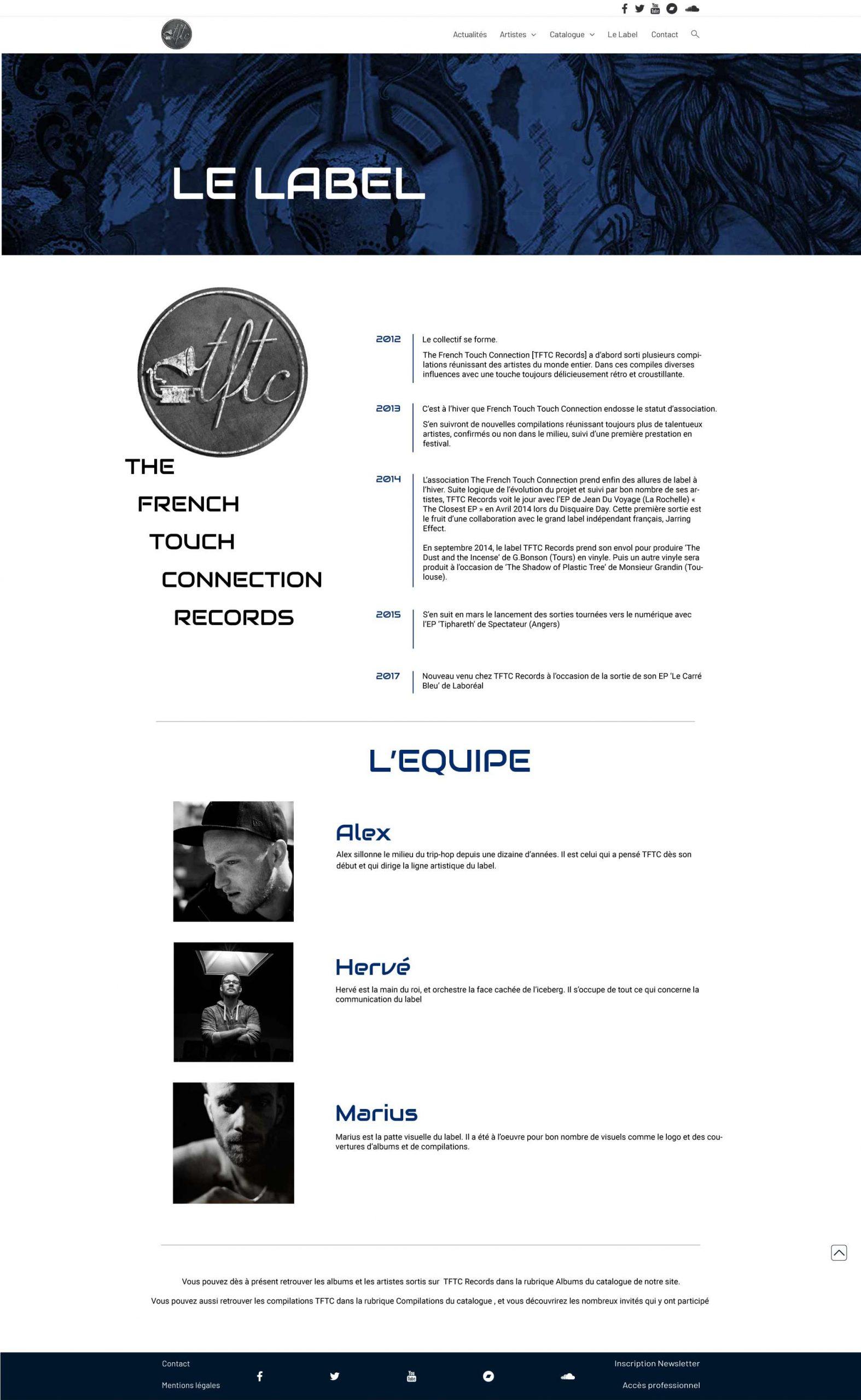TFTC label webdesign création site vitrine