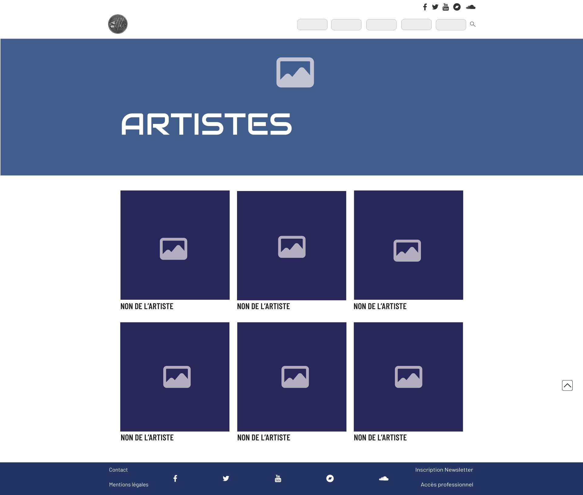 TFTC wireframe artiste design création site vitrine