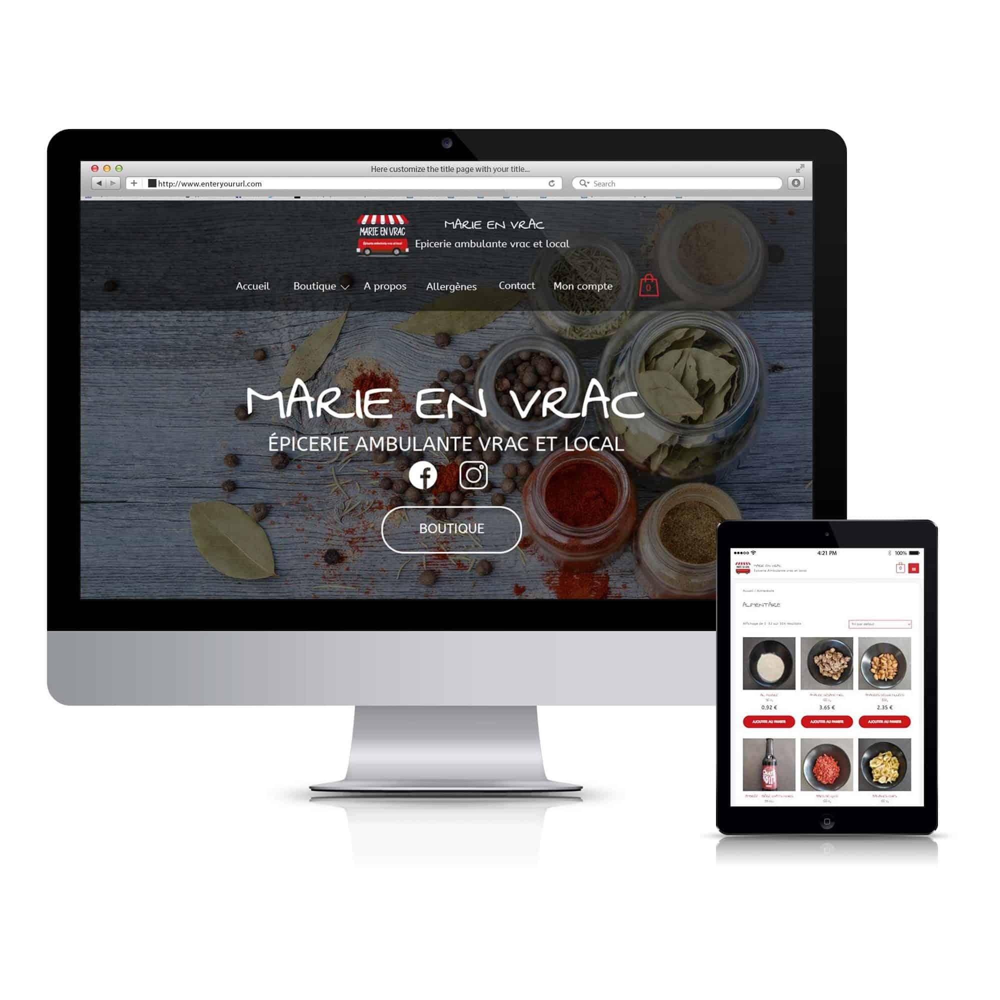Responsive design Marie en Vrac